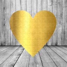 Пазл Сердце (золото)